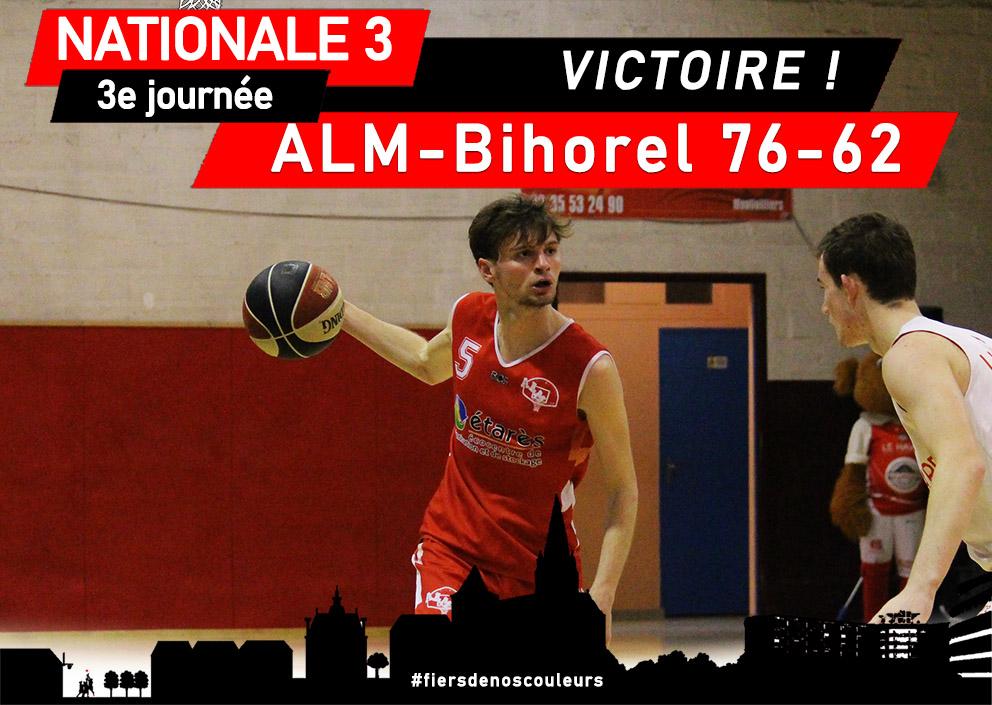 N3 – 2e journée : ALM Basket – Bihorel 76-62